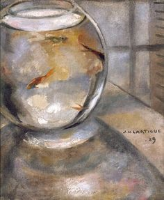 Jacques Henri Lartigue Aquarium, 1929.Oil on canvas (via)