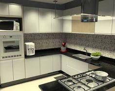 Resultado de imagem para projeto cozinha em u