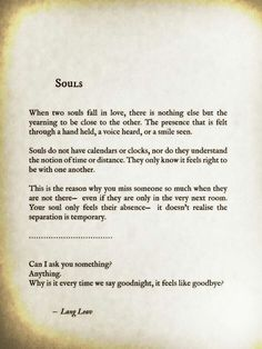Soulmate and Love Quotes : QUOTATION – Image : Quotes Of the day – Description Lang Leav Sharing is Power – Don't forget to share this quote ! Great Quotes, Quotes To Live By, Me Quotes, Inspirational Quotes, Soul Mate Quotes, Super Quotes, Love Soul Quotes, Wrong Love Quotes, Quotes About True Love