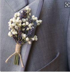 Baby's Breath & Lavender boutonniere with twine Diy Wedding, Wedding Flowers, Dream Wedding, Wedding Day, Wedding Lavender, Flowers Uk, Bridesmaid Flowers, Spring Flowers, Bridesmaid Dresses