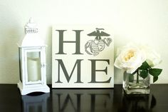 Marine Corps HOME with Eagle Globe and Anchor by BeckandCoDesigns