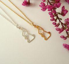 Origami Necklace  Origami Rabbit Necklace Tiny Bunny