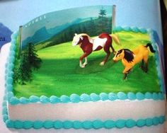 Had to have a Spirit cake Horse Birthday Parties, Kids Birthday Themes, Baby Boy Birthday, Birthday Bash, Birthday Party Decorations, Birthday Cakes, Movie Party Foods, Spirit The Horse, Horse Cake