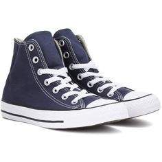 Converse Chuck Taylor All Star Sneakers ($43) ❤ liked on Polyvore featuring shoes, sneakers, blue, converse footwear, blue sneakers, star sneakers, star shoes and blue shoes