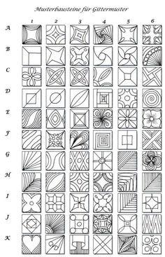 Pattern blocks for grid pattern