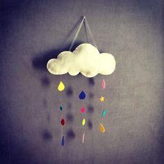 DIY Mobile nuage feutrine