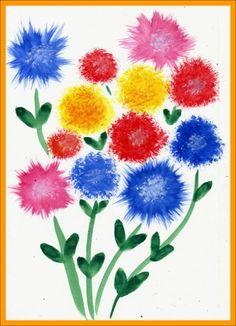 Нетрадиционные техники рисования. Урок №3 «Увлекательное рисование методом тычка» - Для воспитателей детских садов - Маам.ру