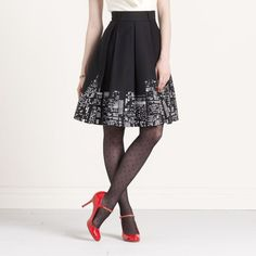 City skyline skirt... I would wear this if it was a landscape/tree line skirt instead :) #hippy