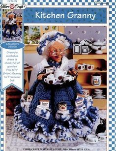 Kitchen Granny - Crochet Outfit for 5 1/2 Air Freshener Doll (Fibre Crafts FMC471) by Vicky L. Tignanelli, http://www.amazon.com/dp/B000RW6RKI/ref=cm_sw_r_pi_dp_QHMQrb1ENV343