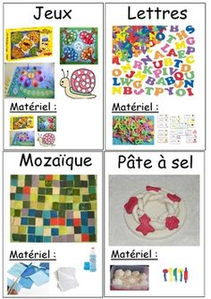 Fiches ateliers à poser French Teaching Resources, Teaching French, Play School Activities, Kindergarten, Teacher Hacks, Literacy Centers, Kids And Parenting, Preschool, Kids Rugs