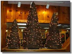 grapevine tree with lights:  The Olde Farmstead