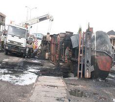 JoelNkanta Blog: Two Injured, Three Buses Burnt in Tanker Fire