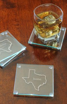 CATHY'S+CONCEPTS+'Home+State'+Glass+Coasters+(Set+of+4)+available+at+#Nordstrom