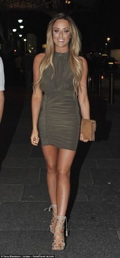 Looking good: Charlotte Crosby showcased her incredible figure during a night out in Newca...
