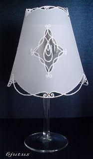parchment craft, technika pergaminowa, abażur, my own design