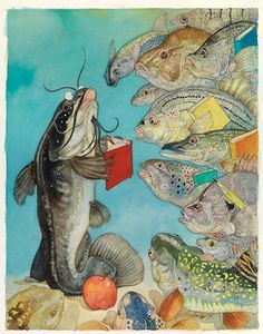 Jerry Pinkney  -  fish school