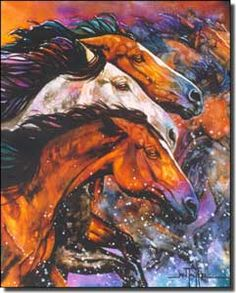 Taylor Horse Equine Art Ceramic Accent Tile 8