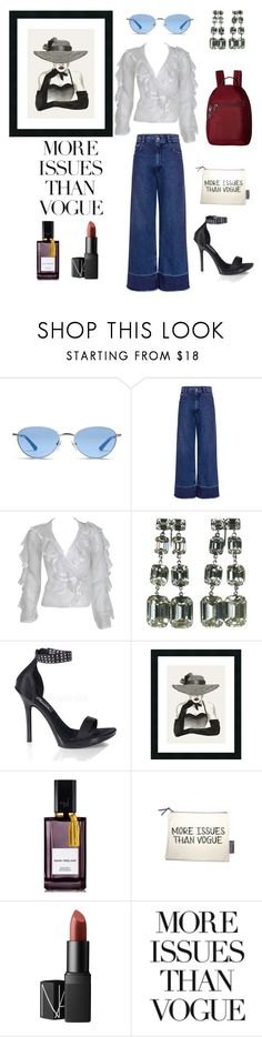 """""""More issues than vogue"""" by carmensfashion ❤ liked on Polyvore featuring Vogue, Rachel Comey, Ossie Clark, Pleaser, Amanti Art, Diana Vreeland, NARS Cosmetics, Native State and Hedgren"""