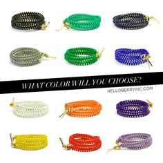 #helloberry Triple Wrap bracelets - so many colors to choose from, perfect for Spring & Summer!