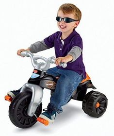 39047d2887a Fisher-Price Harley-Davidson Motorcycles Tough Trike- Children's Tricycle-  Wide, Stable Wheel Base- Easy-grip Handlebars- Big Foot Pedals - Most  Wanted ...