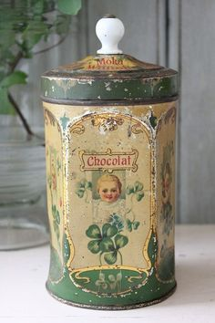 Antique French chocolate tin