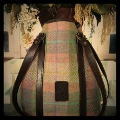 """Plaid Glenalmond Tweed Company Bag Amazing bag from Glenalmond Tweed!  EUC. Double strap.  12""""strap drop.  Interior has a zippered pocket.  Straps have a few knicks and scratches but come in a weathered look so it helps blend in (see pic).  A few light marks on lining.  9x4x12.🛍 Glenalmond Tweed Company Bags"""