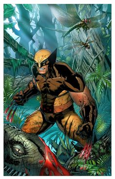 savage land wolverine by Mystic-Oracle on DeviantArt Marvel Comic Books, Comic Book Characters, Marvel Dc Comics, Marvel Heroes, Comic Books Art, Book Art, Marvel Vs, Wolverine Cosplay, Wolverine Art