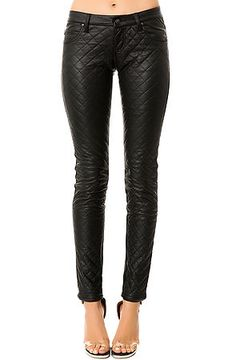Tripp Nyc- Quilted Faux Leather Pants. Now leather skinny jeans aren't only for on stage rock stars. The #Quilted Faux Leather Pants feature a vegan #leather body with a quilt stitched front. $80
