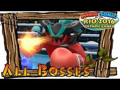 Mario and Sonic at the Rio 2016 Olympic Games Wii U - All Bosses (How to Unlock All Characters) - YouTube