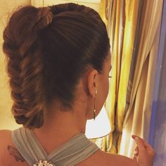 Braid ponytail, hair by Elisa Rampi, red carpet hair