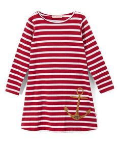 3fc112ead Red Weathered Anchor Boatneck Dress - Toddler  zulily  zulilyfinds Toddler  Dress
