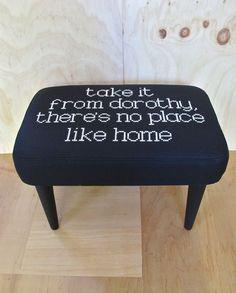 Embroidered Footstool