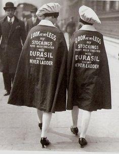 walking stockings ad, 1920s