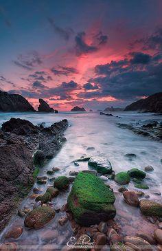 Playa de Somocuevas #Cantabria #Spain