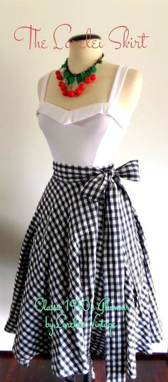 1950's Glamour Full Circle Swing Wrap Skirt by LoreleisVintage, $65.00...