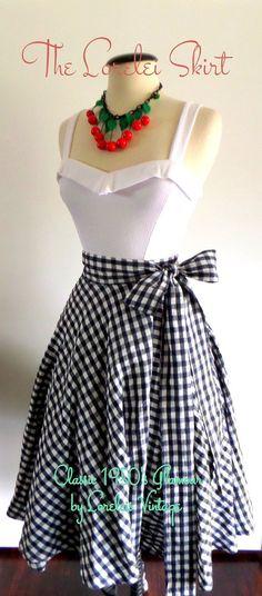 1950's Glamour Full Circle Swing Wrap Skirt by LoreleisVintage, $65.00...