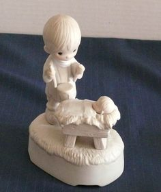 Music Box -Precious Moments - Enesco- LIttle Drummer Boy - Christmas Stuff, Merry Christmas, The Little Drummer Boy, Precious Moments Figurines, Music Boxes, Christmas Figurines, Boys Playing, Baby Jesus, Kinds Of Music