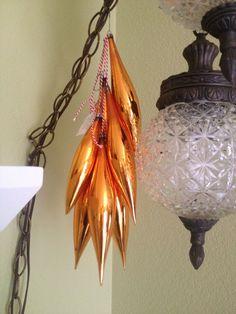 Collecting vintage ORANGE Christmas ornaments