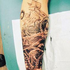 Male Masculine Calf Tattoo Designs Men