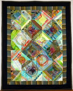 """5000 Miles of Spirals"", 36"" x 46"", by Kari Hannickel 