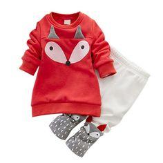 $12.77 (Buy here: https://alitems.com/g/1e8d114494ebda23ff8b16525dc3e8/?i=5&ulp=https%3A%2F%2Fwww.aliexpress.com%2Fitem%2FAutumn-winter-Baby-Girls-Clothing-set-Lovely-Children-s-Clothing-2PCS-Thick-Long-Sleeve-Fox-Tops%2F32679931308.html ) Autumn winter Baby Girls Clothing set Lovely Children's Clothing 2PCS Thick Long Sleeve Fox Tops + Pant Sets for just $12.77
