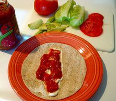 1-2-3 Turkey, Lettuce & Tomato Wrap
