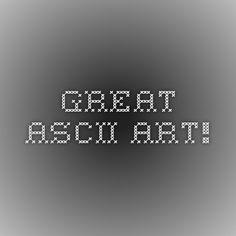 Great ascii art!