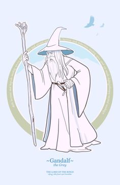 This character needs no introduction. In the film, it is said that Ian McKellen was imitating the voice and body language of Tolkien to play his charact. Gandalf the grey Gandalf, Legolas, Hobbit Art, O Hobbit, 3d Character, Character Design, Character Sketches, Geek Pride Day, Lotr Characters
