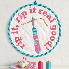 Rip It Mini Quilt, pattern by Tied with a Ribbon Sewing Quote Quilts