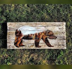Wandering Bear by Woodensense on Etsy