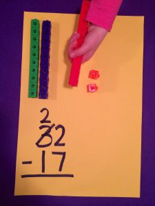 Break Those Numbers Apart! (Blog Post) Why I traded in place value blocks for unifix cubes. Help students understand that tens (or hundreds) can break apart and be regrouped to subtract.