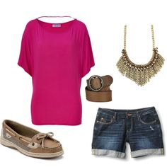 casual outfit. love sperry topsiders! :)