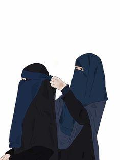 Girly M, Anime Muslim, Muslim Hijab, Hijab Drawing, Niqab Fashion, Islamic Cartoon, Islam Women, Hijab Cartoon, Muslim Women Fashion