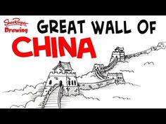 How to Draw the Great Wall of China - Easy Step-by-step for beginners - YouTube